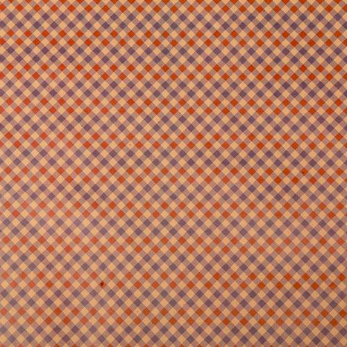 1682429 Бумага упаковочная крафт 'Клетчатый узор', 50 х 70 см