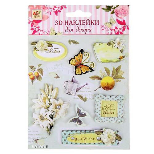 1048290 Наклейка для декора 3D 'Весна' с клейкой лентойм