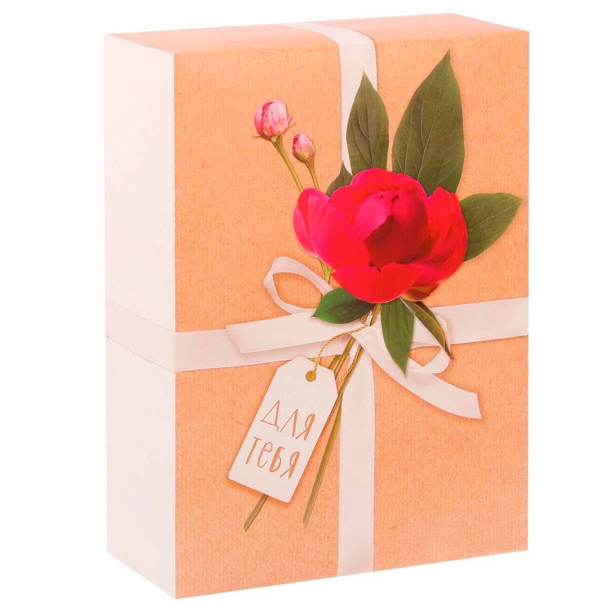 3122708 Складная коробка «Нежный цветок», 22 х 30 х 10 см