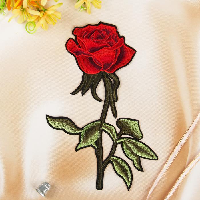 3020548 Термоаппликация 'Роза', 23*15,5см