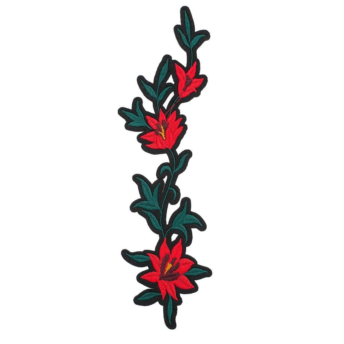 3022228 Термоаппликация 'Цветы', 20*7см