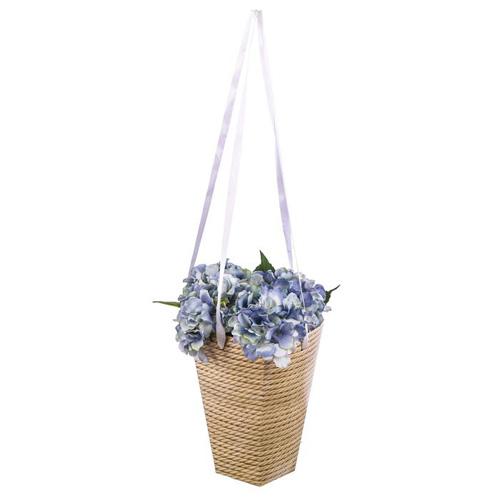 2620936 Коробка для цветов на лентах «Корзинка красоты», 33,5 х 31,5 см