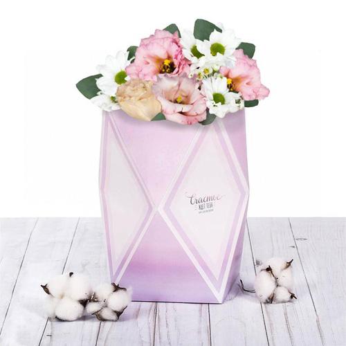 3243927 Коробка–ваза для цветов «Счастье ждёт тебя», 51 х 30 см.