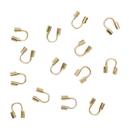 1515103 Протектор для защиты тросика золото 5*4мм упак/50шт