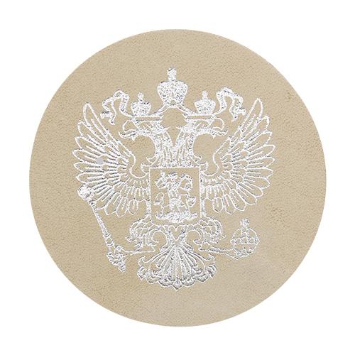 1031 Термоаппликация из замши Герб России D5,5см,