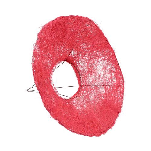 129833284 Каркас для букета сизаль гладкий 25см розовый