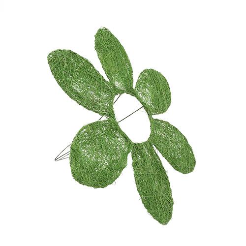 1239935418 Каркас для букета Ромашка, сизаль 25см зеленый