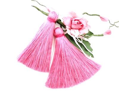 25451 Кисти для бижутерии 6 см, 2 шт., цв. роз.