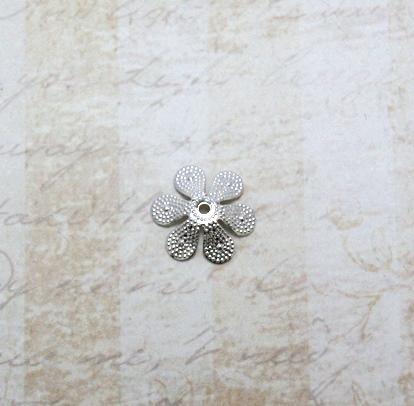 22589 Крепёжная шапочка К07,d-15 мм, 4шт.,серебро