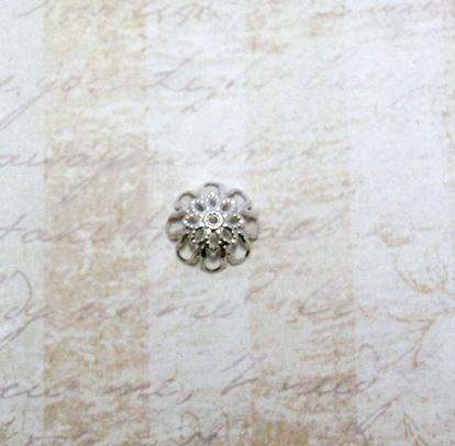 22591 Крепёжная шапочка К09,d-13 мм, 8шт.,серебро