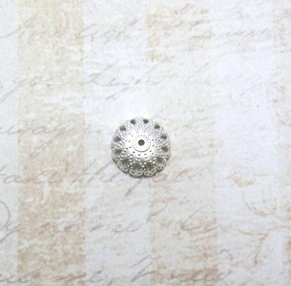 22599 Крепёжная шапочка К17,d-13 мм, 4шт.,серебро