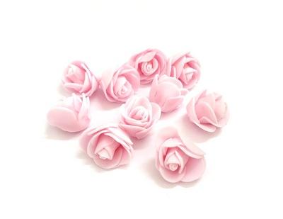 25146 Цветочек 'Розочка' из фоамирана 35мм, уп- 10 шт., цв. св. роз.