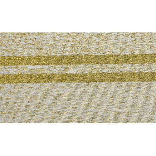 TBY.MP03 Подвяз трикотажный (98%полиэстер, 2%спандэкс), 1мх13см, цв.бежевый с золотыми полосами