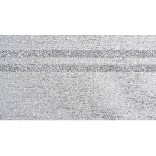 TBY.MP06 Подвяз трикотажный (98%полиэстер, 2%спандэкс), 1мх13см, цв.серый с серебряными полосами