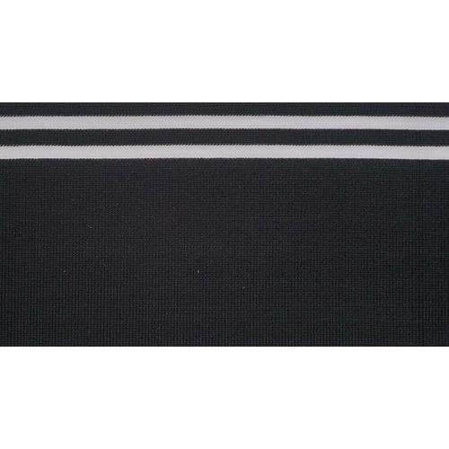 TBY.MP10 Подвяз трикотажный (98%вискоза, 2%спандэкс), 1мх10см, цв.черный с прозрачными полосами