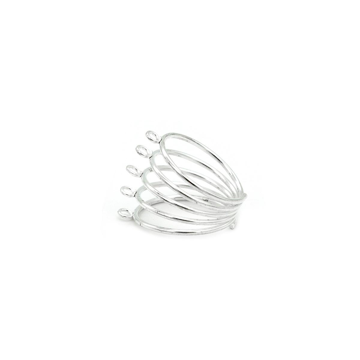 Заготовка для кольца 'Пружина' (серебро)