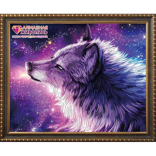 АЖ-3021 Картина стразами 'Душа волка' 50*40см