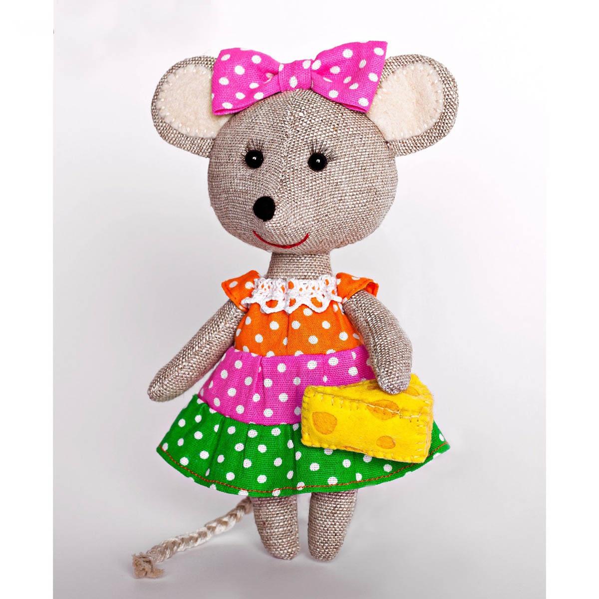 ПЛДК-1457 Набор для создания текстильной игрушки серия 'Домовенок и компания' МЫШКА-НОРУШКА