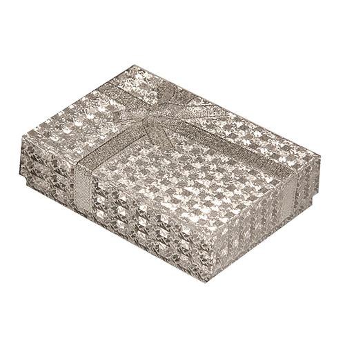 1150624 Коробка подарочная прямоуг 8 *11 * 3 см 'Россыпь блёсток', цвет серебряный