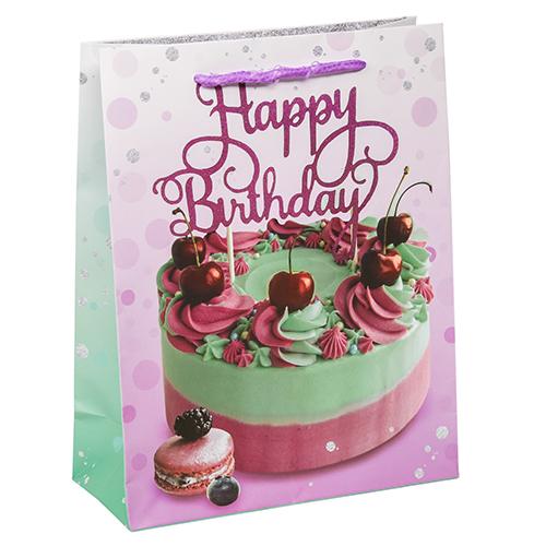 2779082 Пакет ламинированный вертикальный Happy Birthday, ML 23*27*8 см