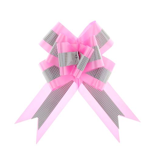 1028069 Бант-бабочка №7 с полосой, розовый