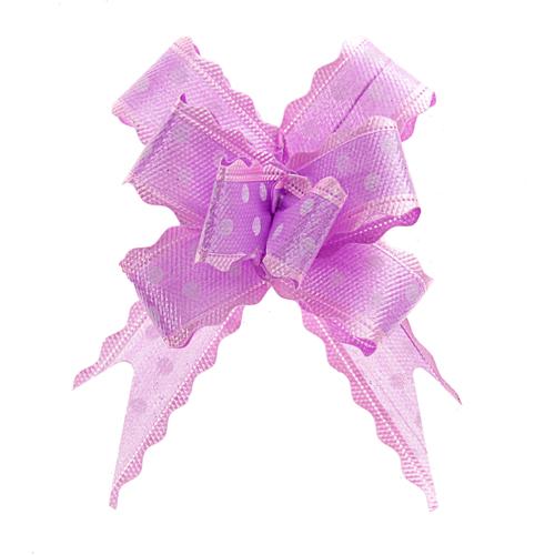 141406 Бант-бабочка №3 белый горох на фиолетовом