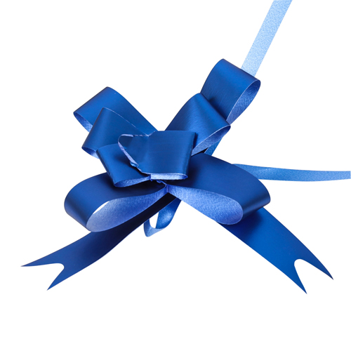 2947892 Бант-бабочка №1,8 голография, синий
