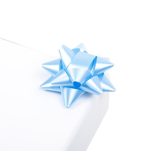2951978 Бант-звезда №3,5 упак/8ш, простой голубой