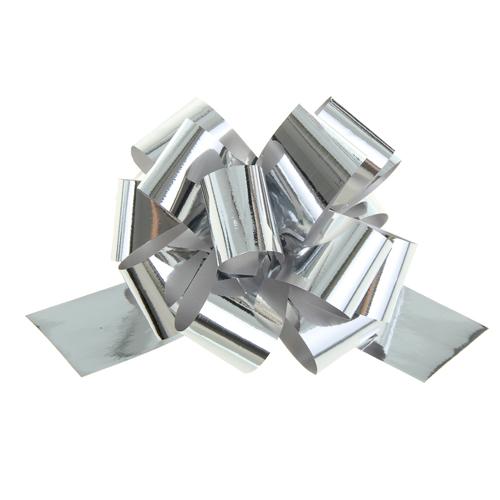 817835 Бант-шар №3 металл, серебро