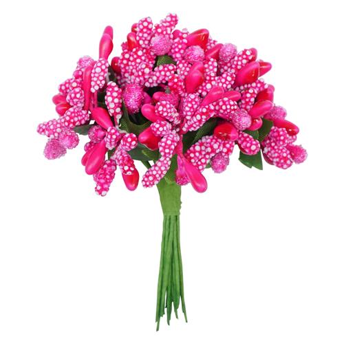 70368 Тычинки для искуственных цветов 12шт. малиновые