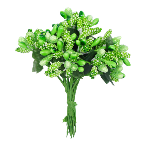 72395 Тычинки для искуственных цветов 12шт. Зеленые