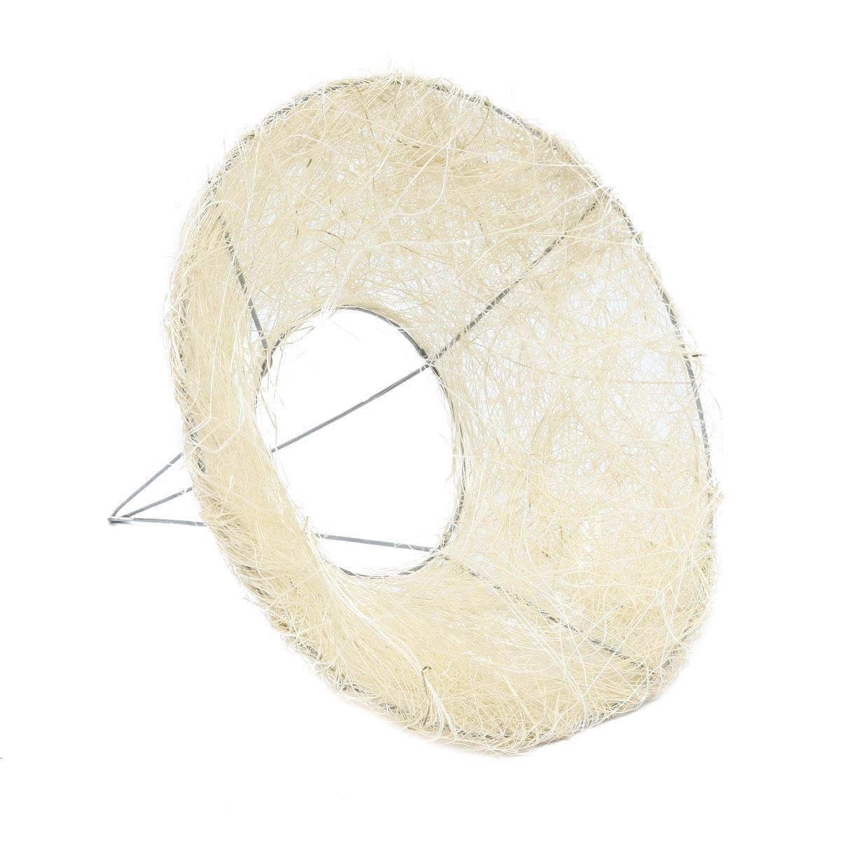 129847632 Каркас для букета сизаль гладкий 15см белый