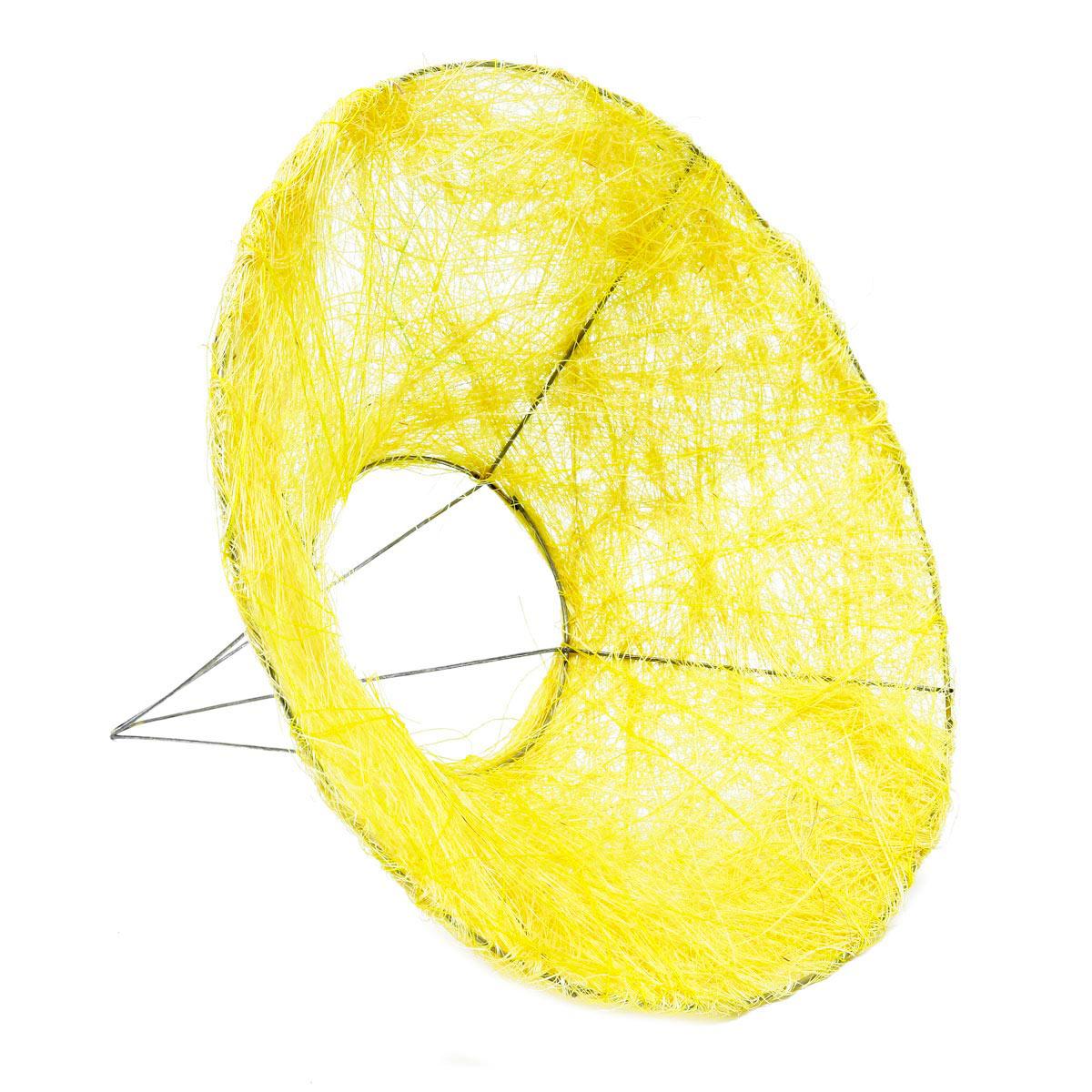 129833278 Каркас для букета сизаль гладкий 25см желтый