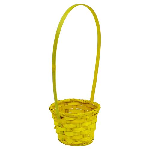 66935 Корзина плетеная бамбук d13*h9см желтый B07-2