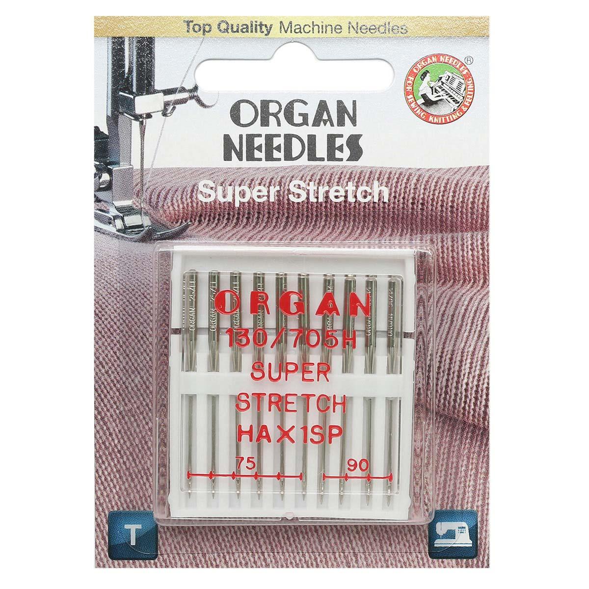 ORGAN иглы супер стрейч 10/75-90 Blister