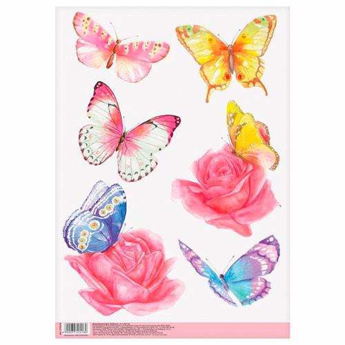 3742418 Декупажная карта «Бабочки», 21*29,7 см