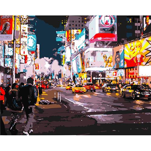 HS0054 Набор для рисования по номерам 'Вечерний Нью-Йорк'40*50см