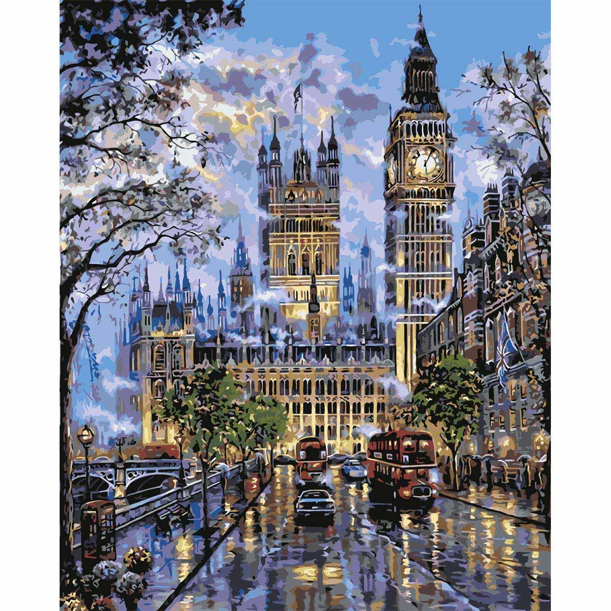 HS0070 Набор для рисования по номерам 'Прогулка в Лондоне' 40*50см