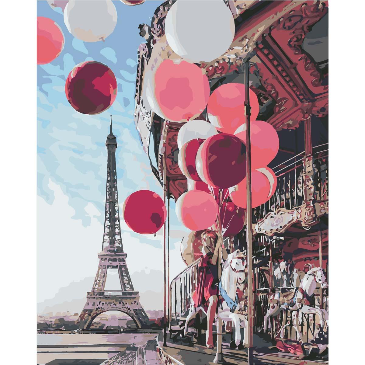 HS0072 Набор для рисования по номерам 'Парк в Париже' 40*50см