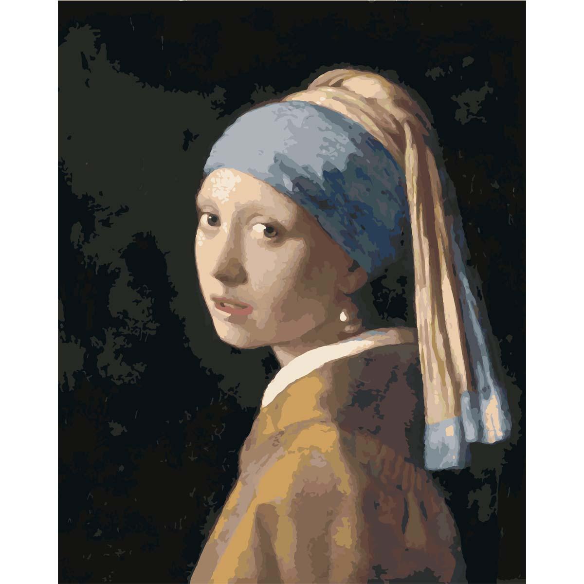 HS0082 Набор для рисования по номерам 'Женщина с жемчужной сережкой' 40*50см