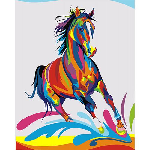 HS0130 Набор для рисования по номерам 'Радужный конь' 40*50см