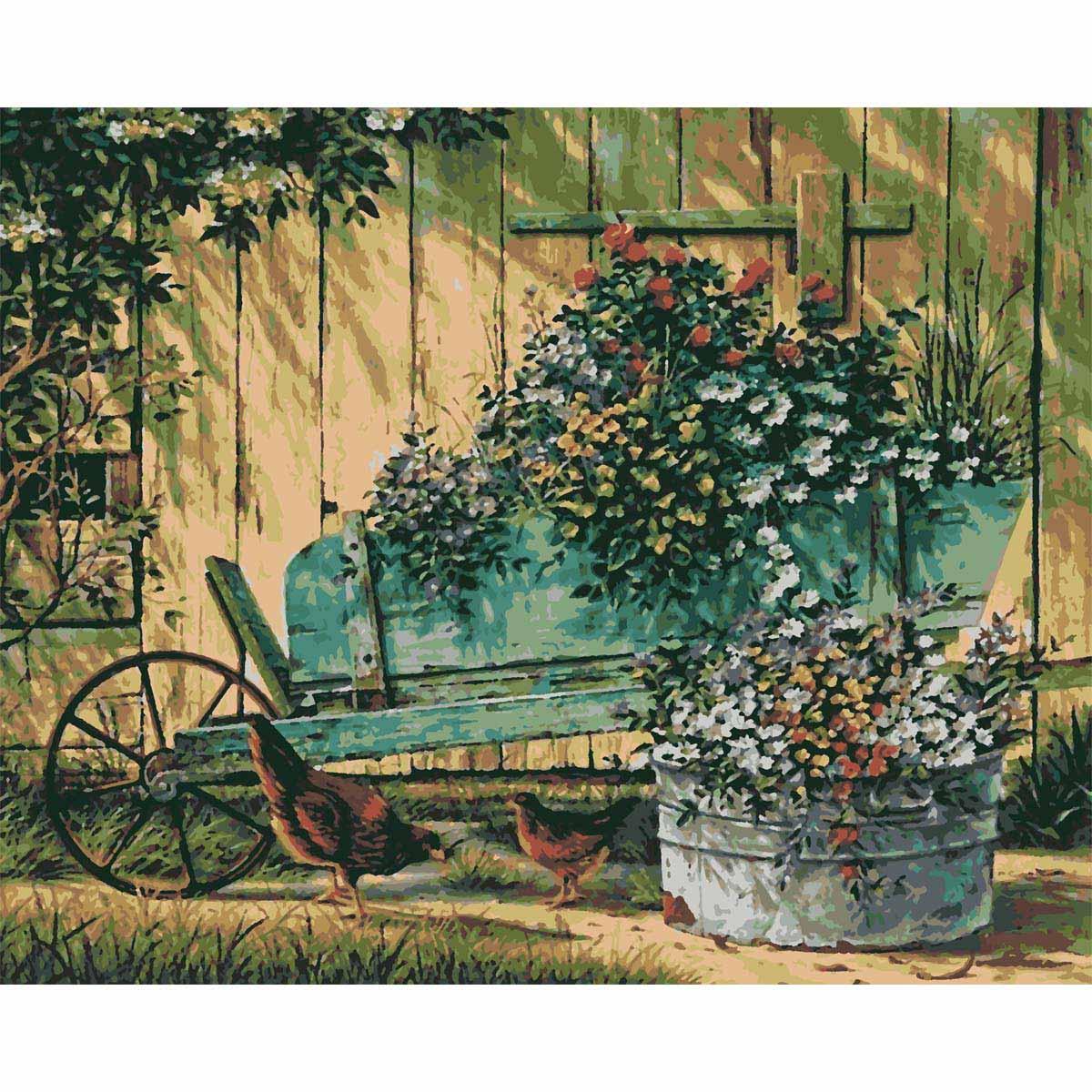 HS0170 Набор для рисования по номерам 'Цветы' 40*50см