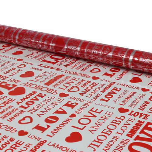 54787 Пленка цветная Love 70см красный