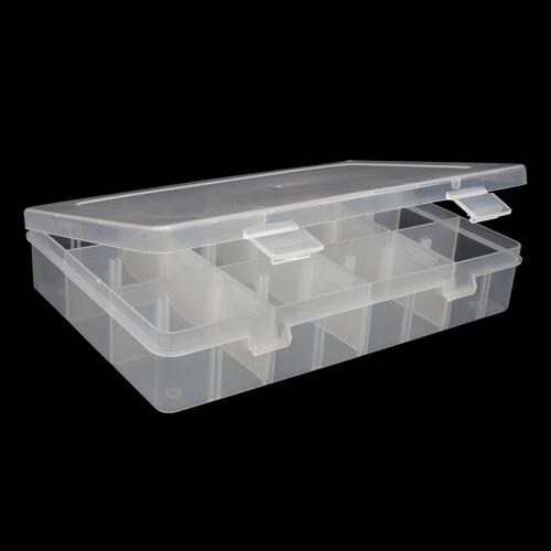064 Контейнер для мелочей прозрачный(съёмные перегородки)19,9*13,5*3,8см