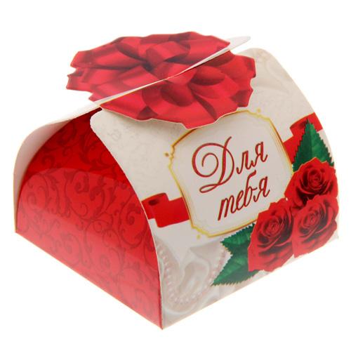 1535970 Коробка складная мини'Розы', 6*6*4,5 см
