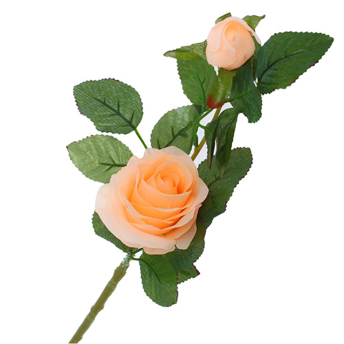 1206462 Цветы искусственные 'Уральская роза' персиковый 45 см