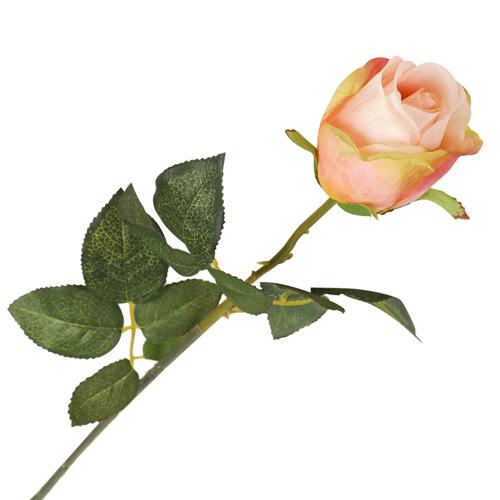 2248848 Цветок искусственный 'Роза Фрау' 9*6*60 см, бело-розовая