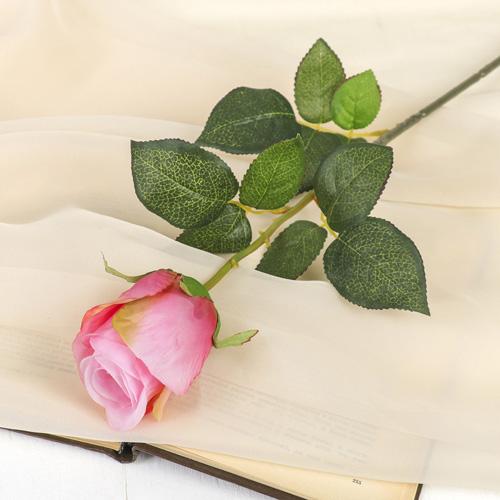 2248849 Цветок искусственный 'Роза Фрау' 9*6*60 см, розовая