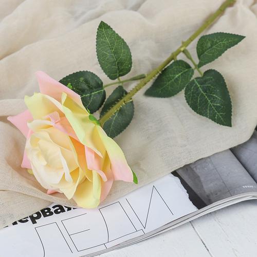 3794243 Цветы искусственные 'Роза Гран При' 7*46 см, кремовый