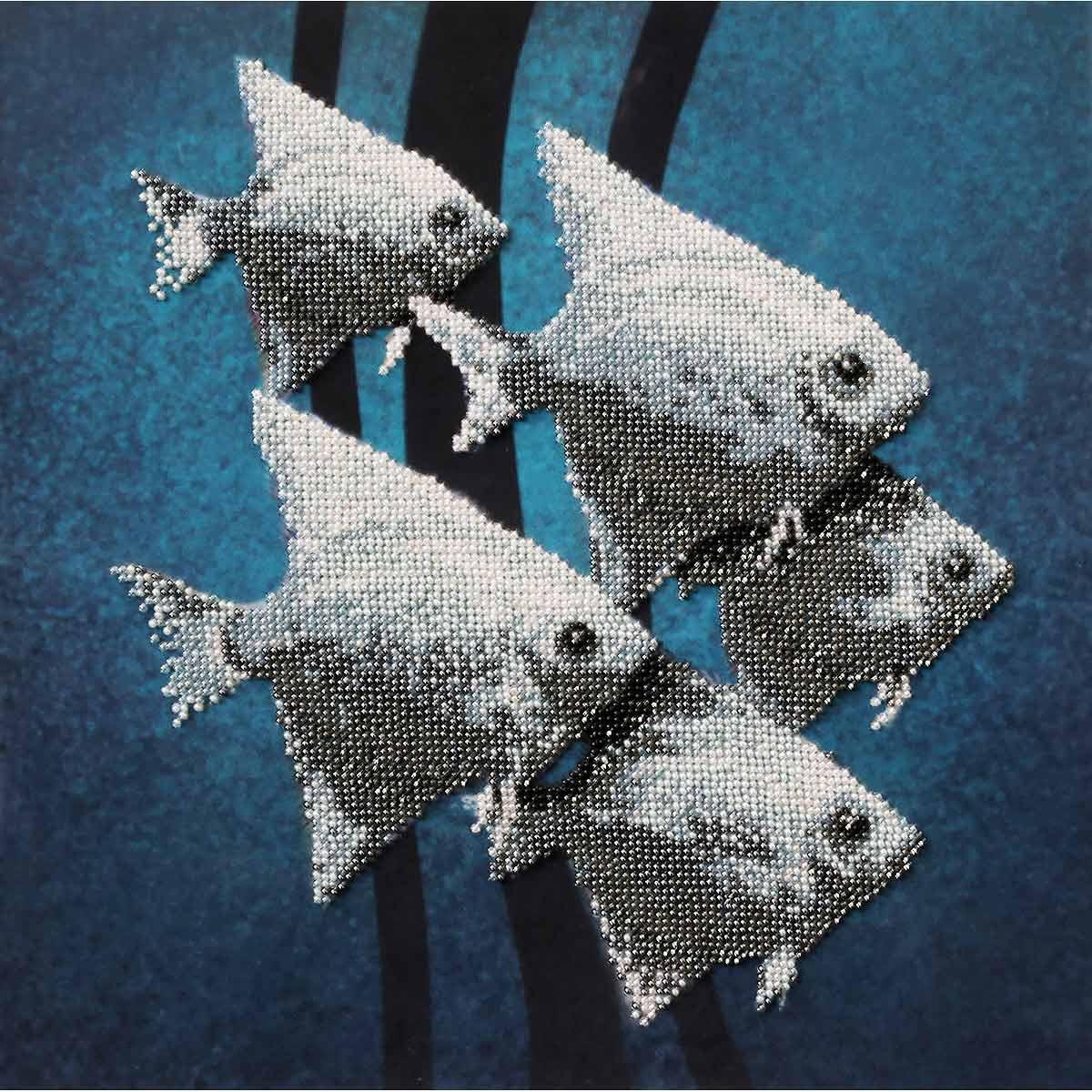 С-01 Набор для вышивания бисером Созвездие 'Рыбки ' 30*30см